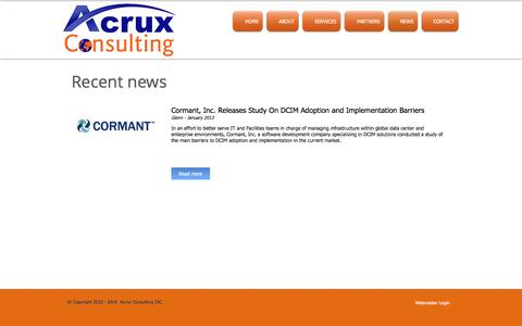 Screenshot of Press Page acruxconsulting.com - Acrux Consulting Limited | NEWS - captured May 29, 2017