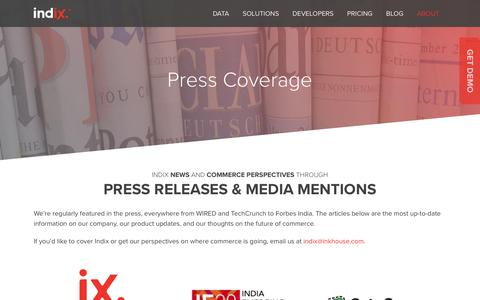 News & Press Coverage | Indix