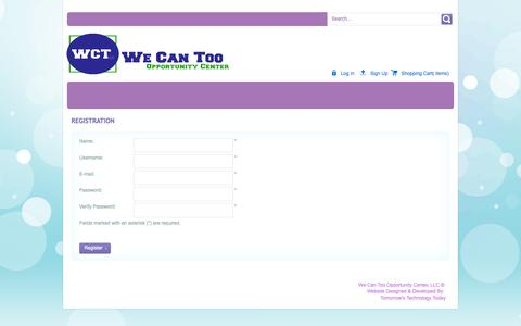 Screenshot of Signup Page wecantoo.biz - Registration - captured Oct. 7, 2014