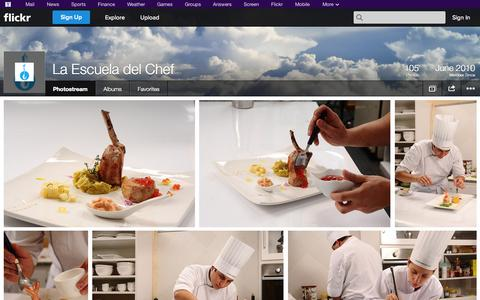 Screenshot of Flickr Page flickr.com - Flickr: La Escuela del Chef's Photostream - captured Oct. 22, 2014