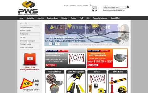 Screenshot of Login Page pwsonline.co.nz - Premier Workplace Solutions - captured Oct. 27, 2014