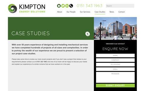 Screenshot of Case Studies Page kimpton.ltd.uk - Kimpton Case Studies | Kimpton Ltd - captured Nov. 3, 2014