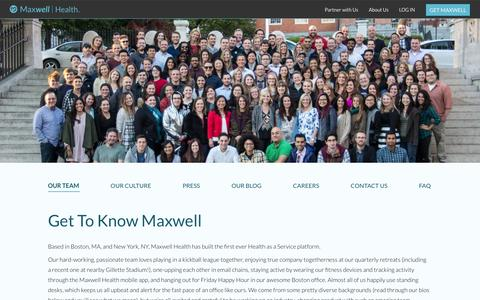 Screenshot of Team Page maxwellhealth.com - Maxwell Health - The future of benefits, now - captured Dec. 4, 2015