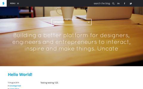 Screenshot of Blog siliconstraits.com - Blog - captured Sept. 30, 2014
