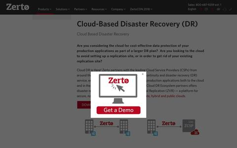 Cloud-Based Disaster Recovery (DR) & Replication Services | Zerto