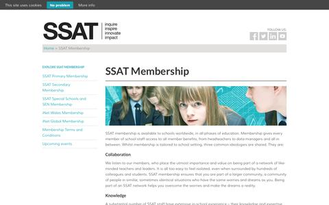Screenshot of Signup Page ssatuk.co.uk - SSAT Membership - Join today! - captured Oct. 10, 2014