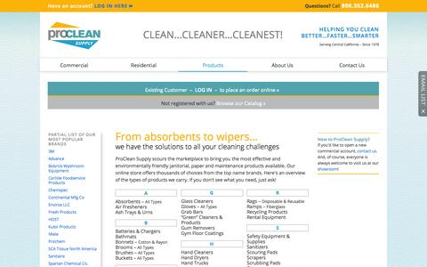 Screenshot of Products Page procleansupply.net - ProClean Supply - Product list | ProClean Supply | Modesto - captured Oct. 28, 2014