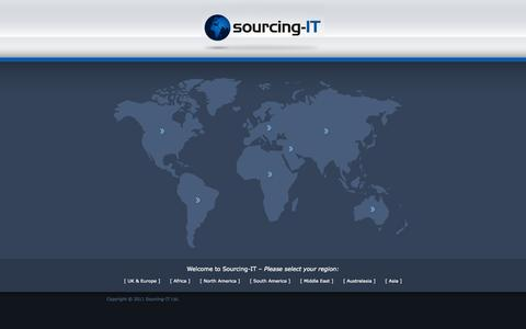 Screenshot of Home Page sourcing-it.co.uk - Welcome to Sourcing IT - captured Oct. 6, 2014