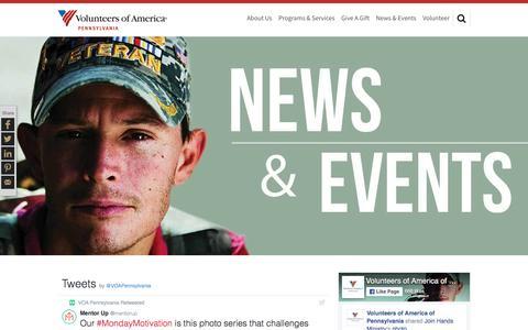 Screenshot of Press Page voapa.org - News | Volunteers of America - captured Nov. 30, 2016