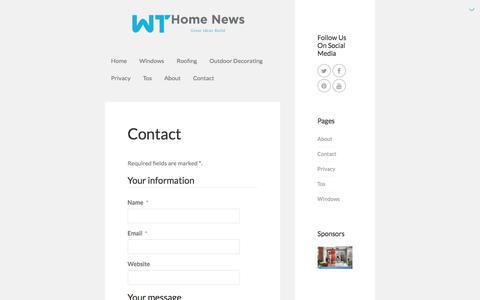 Screenshot of Contact Page wines-travel.com - Contact | WT Home News - captured Nov. 11, 2019