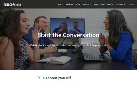 Screenshot of Contact Page nuancedmedia.com - Contact | Nuanced Media - captured June 22, 2019