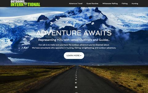 Screenshot of Home Page outdoors-international.com - Outdoors International - captured Feb. 22, 2016