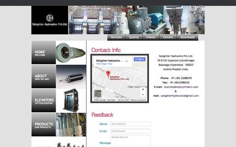 Screenshot of Contact Page salzgitter.co.in - Contact-us-Salzgitter Hydraulics Pvt.Ltd - captured Nov. 19, 2016