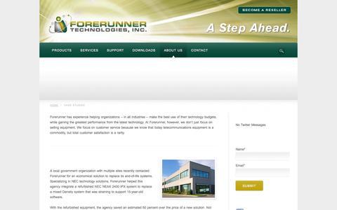 Screenshot of Case Studies Page frtinc.com - Case Studies | Forerunner Technologies, Inc. - captured Oct. 6, 2014
