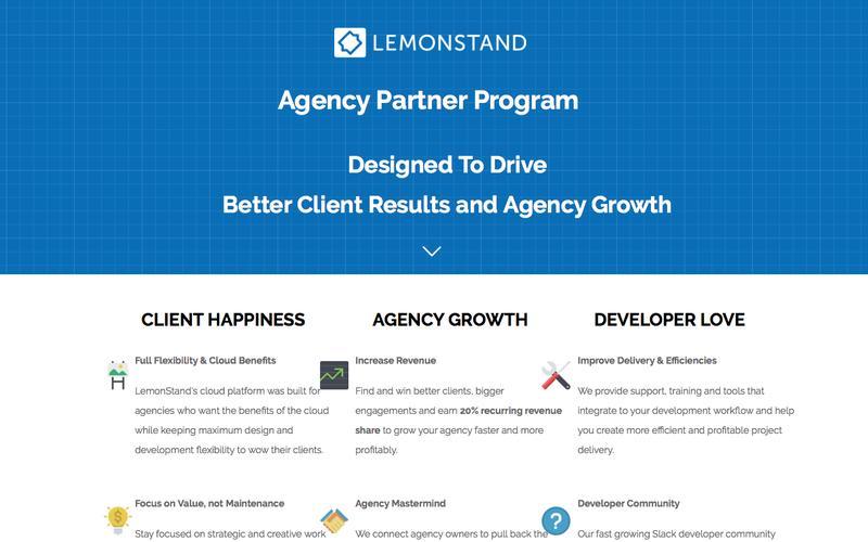 LemonStand Agency Partner Program