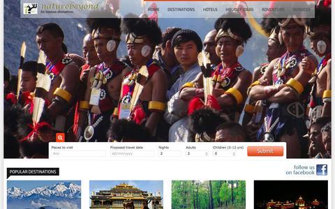 Screenshot of Home Page east-himalaya.com - North East India Tour - captured Jan. 17, 2016