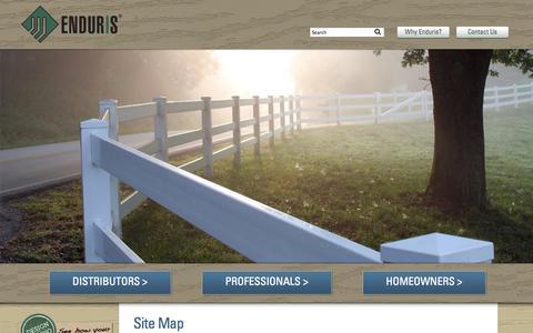 Screenshot of Site Map Page enduris.com - Enduris - Sitemap | ENDURIS - captured Oct. 2, 2014