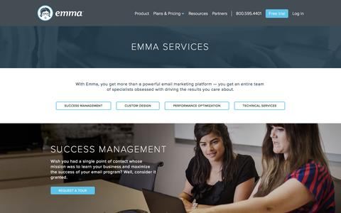 Screenshot of Services Page myemma.com - Email Marketing Services | Emma, Inc. - captured March 1, 2016