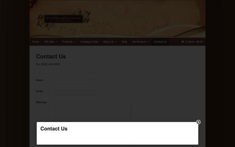 Screenshot of Contact Page suziessnackshack.com - Contact Us - Suzies Snack Shack - captured Oct. 7, 2014