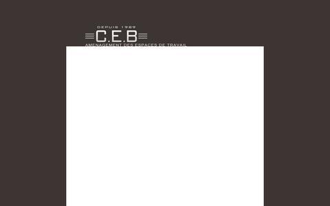 Screenshot of Home Page ceb.fr - CEB - captured Sept. 26, 2014