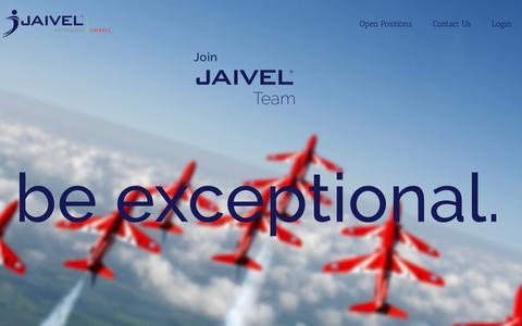Screenshot of Jobs Page jaivel.aero - Home - Jaivel Aerospace Careers - captured June 8, 2017