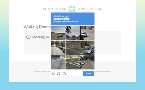 Screenshot of Login Page minnesotaorchestra.org - Minnesota Orchestra - Waiting Room - captured Oct. 20, 2018
