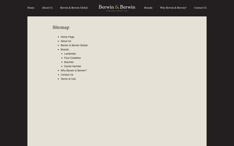 Screenshot of Site Map Page berwinberwin.co.uk - SITE MAP | Berwin & Berwin - captured Feb. 7, 2016