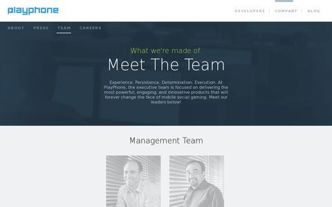 Screenshot of Team Page playphone.com - Meet the Playphone Management Team  | Playphone Inc - captured July 21, 2014