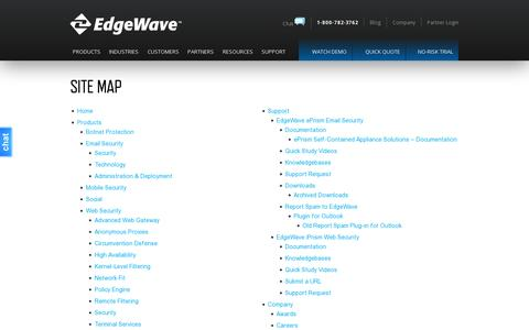 Screenshot of Site Map Page edgewave.com - Site Map - EdgeWave - captured July 19, 2014
