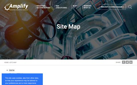 Screenshot of Site Map Page aimg.com - Site Map | Amplify - captured July 28, 2018
