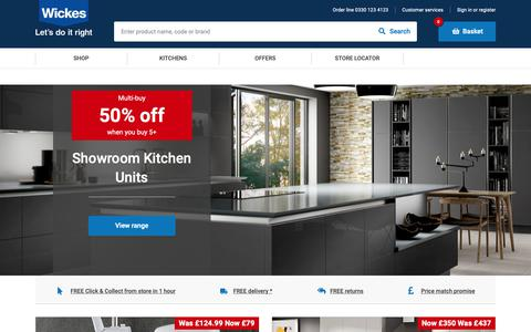 Screenshot of Home Page wickes.co.uk - Wickes.co.uk | Homepage - captured Nov. 18, 2018