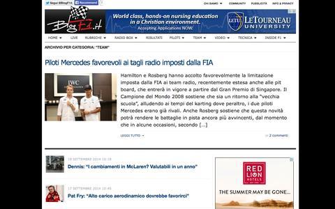 Screenshot of Team Page blogf1.it - TEAM   BlogF1.it   notizie, foto e approfondimenti sulla Formula 1   BlogF1.it   notizie, foto e approfondimenti sulla Formula 1 - captured Sept. 19, 2014