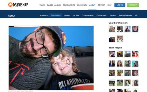 Screenshot of Team Page teamsnap.com - Scott Maslar - Full Stack Developer - captured April 21, 2018
