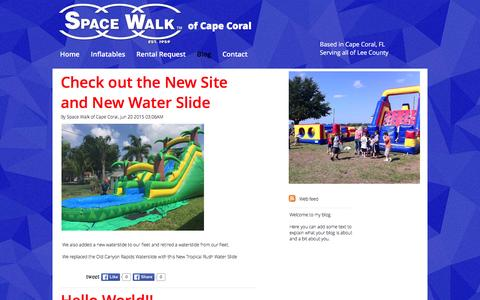 Screenshot of Blog spacewalkofcapecoral.com - Space Walk of Cape Coral Blog and Communication   Cape Coral - captured Jan. 11, 2016