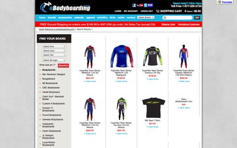 Screenshot of Team Page ebodyboarding.com - Search Results - captured Sept. 19, 2014