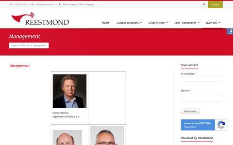 Screenshot of Team Page reestmond.nl - Management - Reestmond - captured Oct. 20, 2018