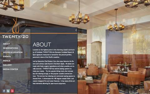Screenshot of About Page twenty20grill.com - About | TWENTY/20 - captured Oct. 6, 2014