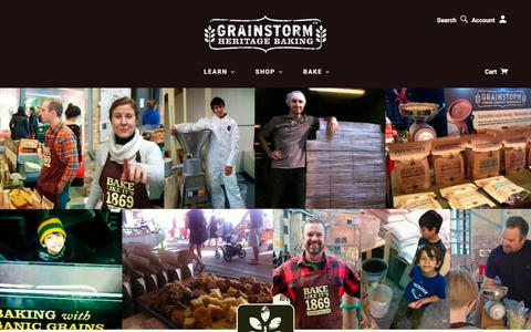 Screenshot of About Page grainstorm.com - About Us | GRAINSTORM - captured Jan. 31, 2016