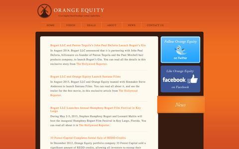 Screenshot of Press Page orangeequityllc.com - News «  Orange Equity - captured Oct. 27, 2014