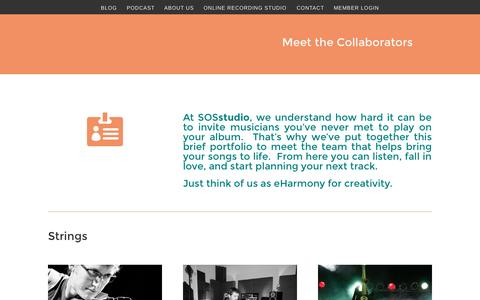 Screenshot of Team Page sosstudio.co - team - captured Sept. 26, 2015