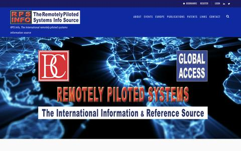 Screenshot of Home Page rps-info.com - RPS Info – RPS Info, The International remotely piloted systems information source - captured Jan. 21, 2018