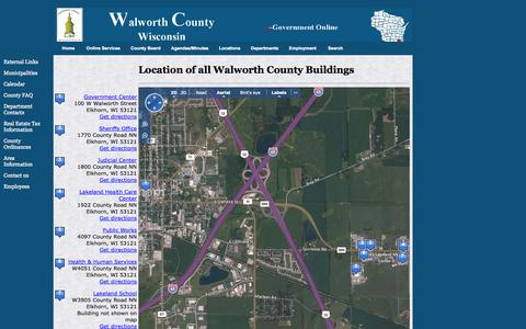 Screenshot of Locations Page walworth.wi.us - Walworth County - Building Locations - captured Oct. 27, 2014