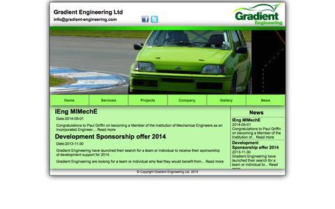 Screenshot of Press Page gradient-engineering.com - Gradient Engineering Ltd - www.gradient-engineering.com - captured Nov. 2, 2014