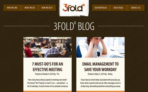 Screenshot of Blog 3foldx.com - 3Foldx Blog - 3Fold Creative - captured Oct. 27, 2014