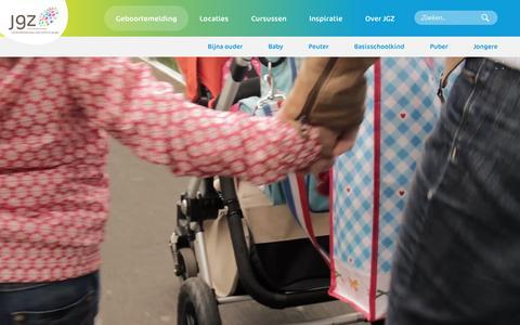 Screenshot of Home Page jgzzhw.nl - JGZ Zuid-Holland West - captured Feb. 11, 2016