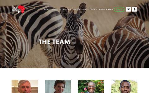 Screenshot of Team Page virtualdoctors.org - The Team - captured Sept. 25, 2018