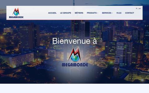 Screenshot of Home Page megamonde.com - Groupe Mégamonde - captured Sept. 30, 2018