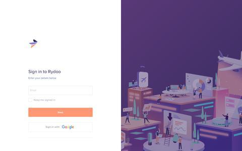 Screenshot of Login Page rydoo.com - Rydoo - captured June 22, 2019
