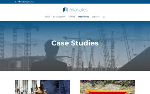 Screenshot of Case Studies Page alfagates.com - CASE STUDIES - Alfagates - captured Oct. 2, 2018