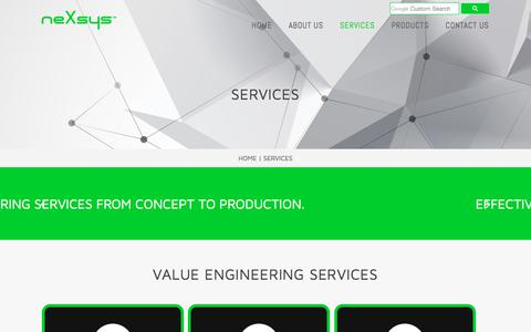 Screenshot of Services Page nexsys.in - SERVICES | NEXSYS CONTROLS PVT. LTD. - captured Nov. 12, 2017